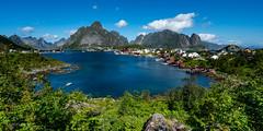 Lofoten: Reine (Norway) (christian.rey) Tags: nordland norvège no lofoten islands iles norway reine summer été paysage landscape sony a7r2 a7rii 1635 seascape mountains montagnes