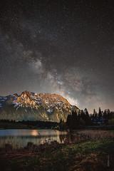 Milchstraße über dem Schmalensee bei Mittenwald (Lars Melzer) Tags: technik nachtfotografie milchstrase nachfoto karwendel sterne berge witns