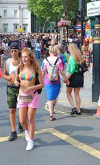 Pride in London 2018 (Waterford_Man) Tags: prideinlondon2018 lgbt lesbian gay bi trans girls bare shorts bra midriff