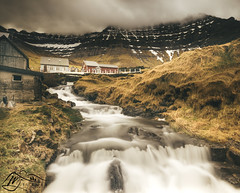 Myllá below Urðafjall (►►M J Turner Photography ◄◄) Tags: kunoy myllá urðafjall faroeislands river village mountain mountains