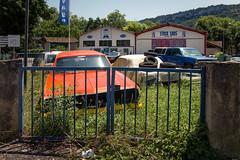 American cars (pachjuvich) Tags: américaine américains car auto vintage garage orange old patrick bastide pachjuvich ancienne bleu stockcar american usa restauration carrosserie
