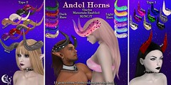 *NW* Andel Horns Gacha (NeverWish) Tags: neverwish nw horns secondlife fantasy gacha carnival