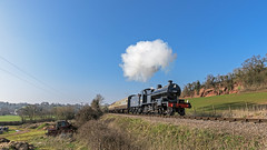 Quarry Scene (4486Merlin) Tags: 53808 england europe exlms heritagerailways railways sdj7f280 southwest steam transport unitedkingdom westcountry westsomersetrailway 'oldquarry'sampfordbrett somerset gbr sd50thclosureanniversary