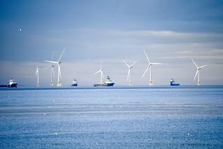Wind Farm - Aberdeen Bay  Scotland - 8/8/2018