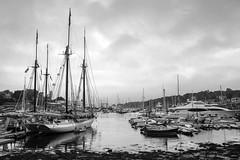 Camden Maine (Bernie Duhamel) Tags: camden maine harbor blackwhite sonya7riii sony2470mm clouds overcast sea ocean atlanticocean greatphotographers teamsony bernie duhamel boats sailboat bay
