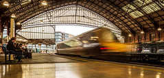 Rush Hour @ Bristol Temple Meads (Ian Emerson (Thanks for all the comments and faves) Tags: train voyager crosscountry bristol templemeads roof platform people passengers waiting architecture brunel gwr canon speed