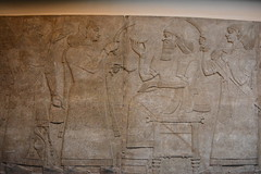 London, England, UK - British Museum - Assyria - Court Scene, Nimrud, 865-860 BC (jrozwado) Tags: europe uk unitedkingdom england london museum britishmuseum history culture anthropology assyria frieze relief courtscene nimrud