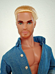 Apple Jack in denim (Deejay Bafaroy) Tags: homme male fashion royalty fr integrity toys doll puppe portrait porträt applejack jack blonde blond denim jeans blue blau