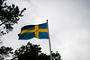 The lion from the north (barkvall) Tags: sweden flag summer sky nationalday midsummer