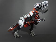 Incendius Rex (Kingmarshy) Tags: lego bionicle hero factory moc dino dinosaur trex rex tyrannosaurus incendius metal iron fire elements elemental beast big large boi bio biocup 2018 preliminary