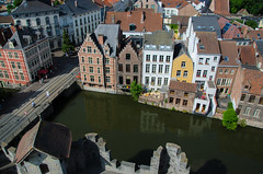 Old city of Ghent, Belgium (Federico Casares) Tags: oldcity waterway belgium reflection eastflanders city channel house water ghent colors