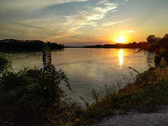 Sunset on the Missouri River - Rocheport, Missouri (BeerAndLoathing) Tags: sunset summer cellphone roadtrip missouri river missouririver august googleandroid trip nexus6p android eclipsetrip 2017 google rocheport unitedstates us