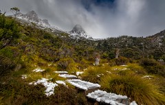 """""""If... (jenni 101 - of for a while) Tags: godsowncountry cradlemountain mountains tasmania worldheritage landscape nikond7200 photographybyjen snow wildnerness"""