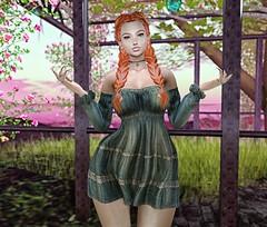 ♚ Look #545 ♚ (Caity Saint) Tags: runaway ra fameshed maitreya revelation ak dress redhead sl secondlife pixels