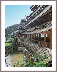 Wind and Rain Bridges (Immagini 2&3D) Tags: chengyang guangxi china