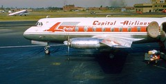 Chicago Midway Airport - Capital Airlines - Vickers Viscount (twa1049g) Tags: chicago midway airport capital airlines vickers viscount n7428 1956