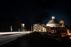 Long EXP in ariccia (Marcoalberto Crocco) Tags: ariccia longexp night sony a7 mirrorless church street notte light sky lungaesposizione cars macchine scie