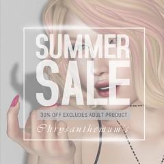 Chrysanthemum's Summer Sale 2018 Aug 15-20