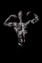 _BSC2417 (benni_schuetzenhofer) Tags: inked shredded shred tattoo tattooedup blackbackground abs sixpack huge muscle muscles big getbig fitness model athletic fit fitguy man male malemodel