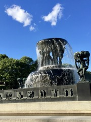 Fountain with Two Clouds (jchants) Tags: 59fountain oslo norway water clouds sky blue 118in2018