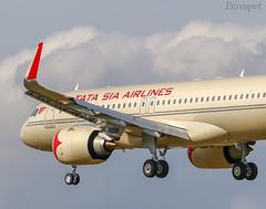 F-WWIN AIRBUS A320 NEO VISTARA TATA AIRLINES (@Eurospot) Tags: fwwin vtatv airbus a320 a320neo vistara tatasiaairlines toulouse blagnac