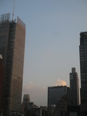 2018 August Evening Clouds 7802 (Brechtbug) Tags: 2018 august evening clouds virtual clock tower from hells kitchen clinton near times square broadway nyc 08162018 new york city midtown manhattan summer summertime weather building pink low hanging cloud hell s nemo southern view ny1rain