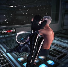 Love Trip (davidamstrong_4.0) Tags: secondlife scifi futuristic slcouple galactic cuddles