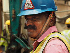 An Indian Foreign Worker in Singapore (williamcho) Tags: indian singapore foreignworker foreigntalent roadworks construction