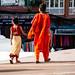 Walking at Boudhanath