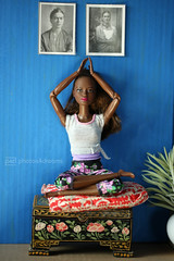 raven in meditation (photos4dreams) Tags: photos4dreams p4d photos4dreamz yoga barbie doll toy puppe madetomove dress mattel barbies girl play fashion fashionistas outfit kleider mode puppenstube tabletopphotography aa africanamerican darkskin