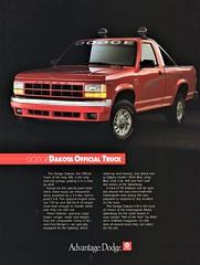 1991 Dodge Dakota Indy 500 Official Truck (aldenjewell) Tags: 1991 dodge dakota indianapolis indy 500 official truck ad