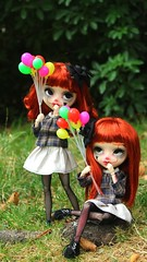 Branka & Ranka (browniiefamily) Tags: pullip fc full custo customiser logan chlander xoxo dolls poupée clown ballons ça faceup