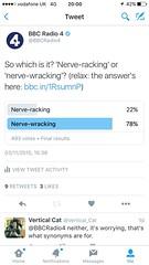 (Steve Bowbrick) Tags: poll twitter socmed grammar language usage bbcradio4 bbc ios iphone screenshot