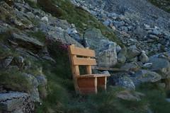 banc encore à l'ombre de la montagne (bulbocode909) Tags: valais suisse arolla valdhérens bancs nature montagnes fleurs rochers vert
