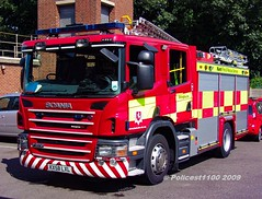 Kent Fire & Rescue Scania P270 KX58 LXL (policest1100) Tags: kent fire rescue scania p270 kx58 lxl