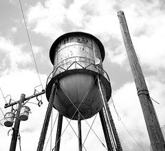 Rhome, Texas (RickC.) Tags: watertank texas bw 6x6 120 d76 agfa isolette folder bwfp 100tmx square