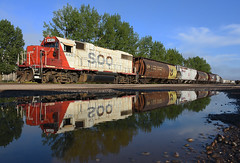 Heritage Reflection (Missabe Road) Tags: soo 4402 gp382 cp ricespoint