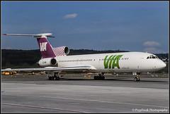 LZ-MIL / ZRH 04.2000 (propfreak) Tags: propfreak slidescan zrh lszh zurich kloten lzmil tupolev tu154m via varnainternationalairways utair ra85056 tu154