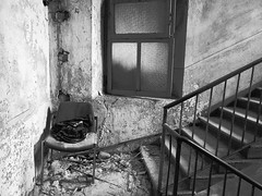 Waiting (davidepremoselli) Tags: stanza legno degraded degrado abbandono alone bw blackandwhite blackwhite chair wait waiter waiting dead death old underground
