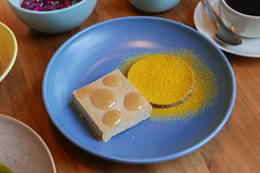 Sunflower seed parfait with sour honey, licorice, and bee pollen $13 (loustejskal) Tags: chicago illinois annaposey davidposey elske chicagofood chicagorestaurant pastry dessert sunflower