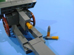 You can put shell inside the cannon (TekBrick) Tags: custom lego ww1 german canon skoda m14 horse buggy moc brick parts dark gray war