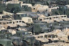 Camouflaged Cargo for Exercise Saber Strike 18 (yyzgvi) Tags: military equipment trucks oshkosh caterpillar klaipeda lithuania john deere am general humvee hmmwv tripwire force exercise saber strike 18 usmc