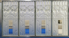 Open lilies - communion rail panels - Glass Church, Jersey (Monceau) Tags: glass panels open lilies openspace glasschurch renélalique jersey millbrook anglican lalique