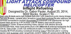 Light Attack Compound Helicopter Logo (Gabor Pauler) Tags: tlg lego technic legotechnic light attack compound helicopter rotary gun sidewinder aamram hellfire lau tow