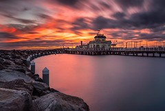 Sailors delights. An amazing sunset over Melbourne's famous St Kilda pier. (DFurlan) Tags: colors travel wideangle australia pier city longexposure sunset melbourne