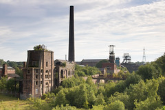 Chatterley Whitfield colliery 08 jun 18 (Shaun the grime lover) Tags: chimney derelict industrial colliery coal mine chatterleywhitfield chell tunstall staffordshire pit pithead headstock