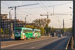 Tram Riga (Schnitzel_bank) Tags: riga lettland latvija tranvia villamos tatra t3a трамвай electrico tramvia tramway streetcar line5 linie5 rīgassatiksme werbung advertisement