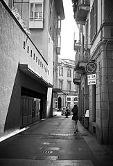 Atmosphere in Milano (marionvankempen) Tags: street milano atmosphere city blackandwhite throughherlens