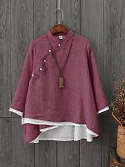 Gracila Vintage Layered Long Sleeve Women Blouses (1206948) #Banggood (SuperDeals.BG) Tags: superdeals banggood clothing apparel gracila vintage layered long sleeve women blouses 1206948