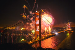 So You Say It's Your Birthday (Thomas Hawk) Tags: 75thbirthdaygoldengatebridge america batteryspencer california goldengatebridge marin marinheadlands sanfrancisco usa unitedstates unitedstatesofamerica bridge fireworks millvalley us fav10 fav25 fav50 fav100